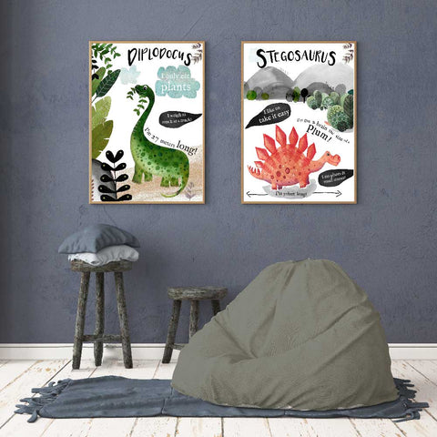 Fun Dinosaur Wall Art For Boys Room