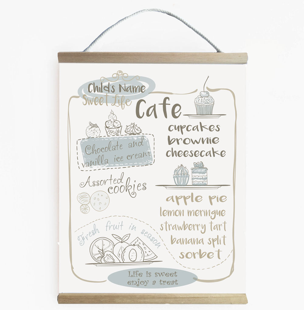 Sweet Life Cafe - Kids Play Cafe Banner Blue