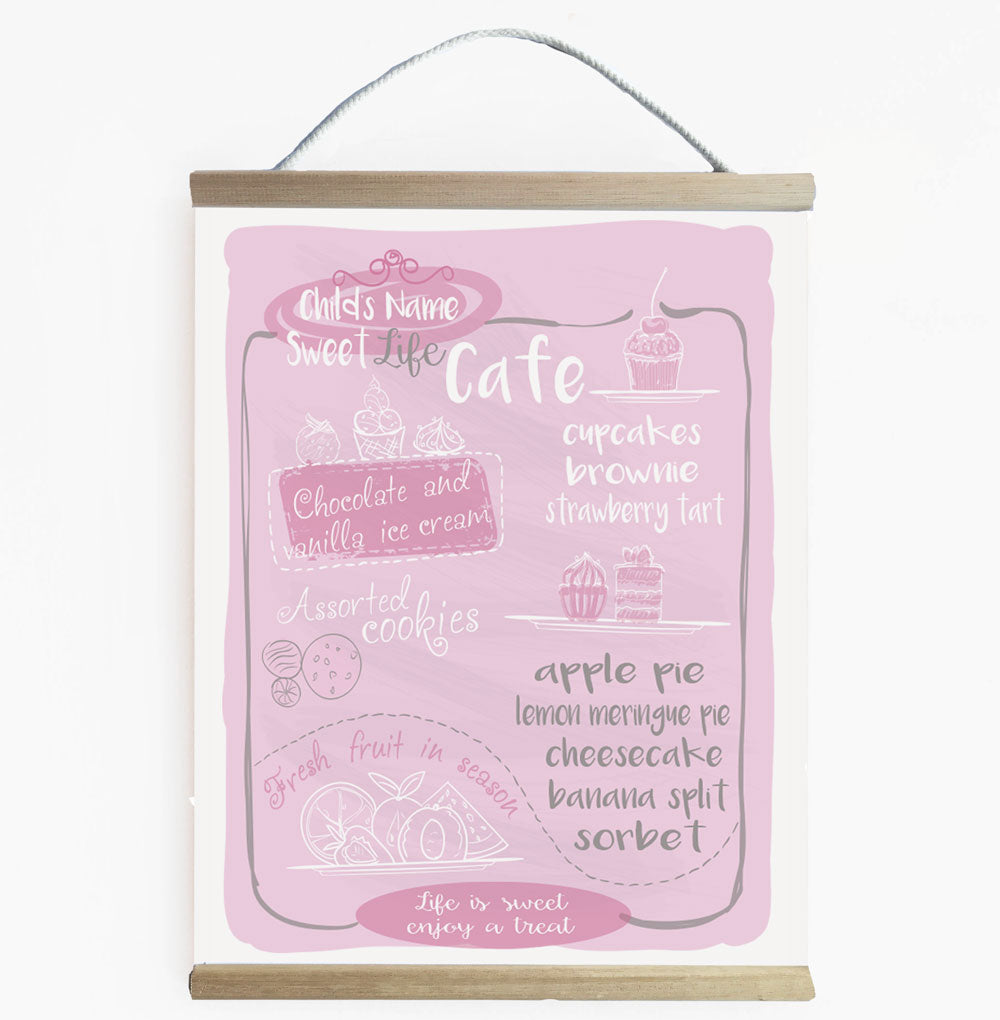 Sweet Life Cafe - Kids Play Cafe Banner Pink