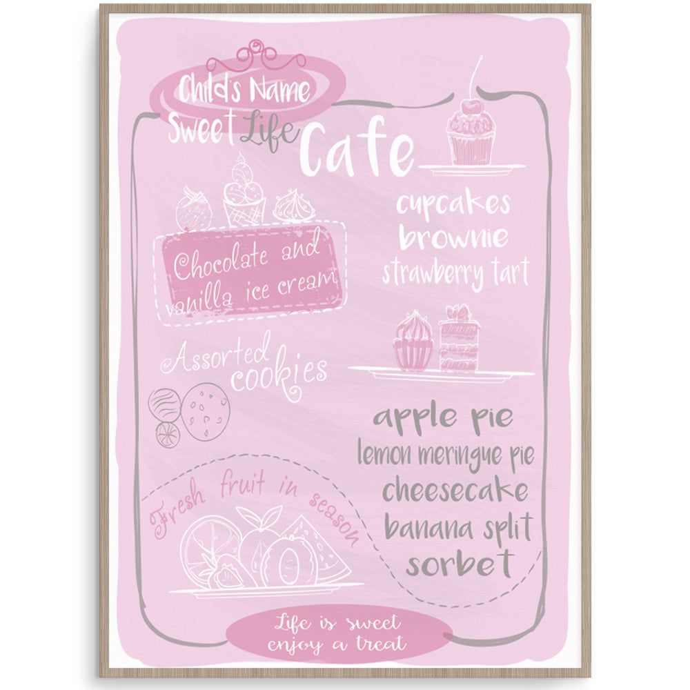 Kids Wall Art - Sweet Life Play Cafe  Print