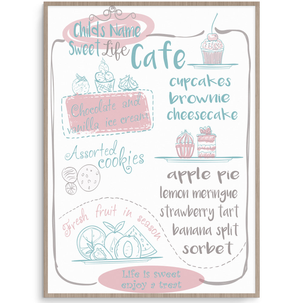 Sweet Life Cafe - Kids Play Cafe Print
