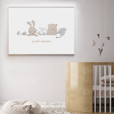 Gender Neutral Sweet Dreams Nursery Wall Art