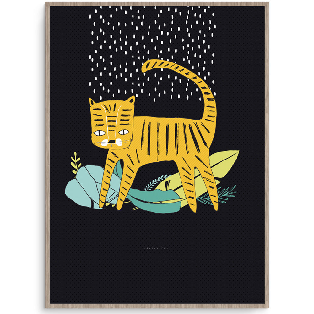 Fun Tiger Boys Wall Art Print