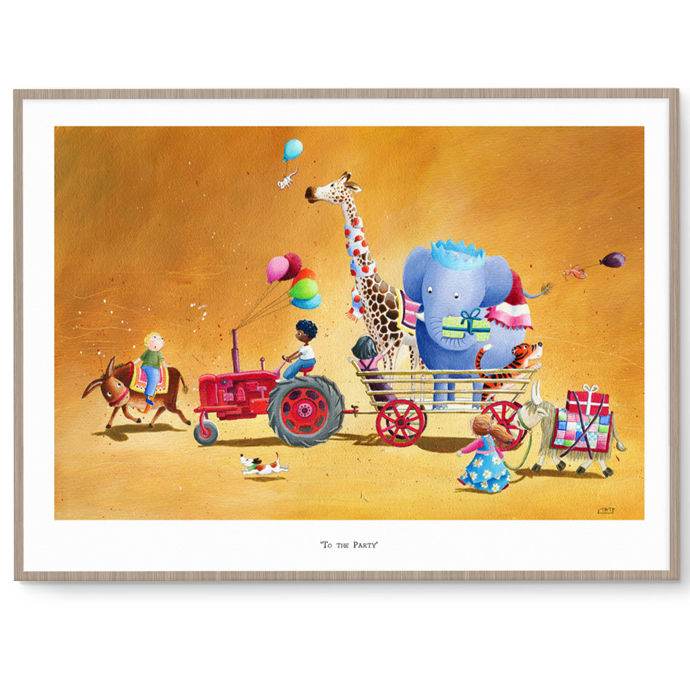 To The Party Nursery Art