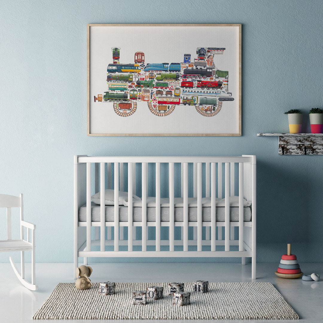 Train Wall Art For Boys Room