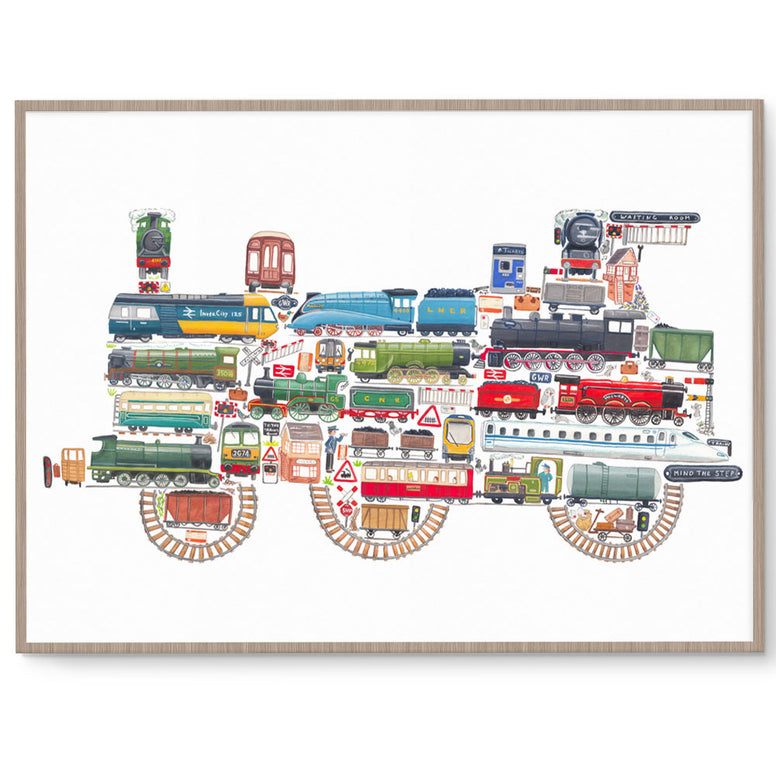 Trains Boys Wall Art Print
