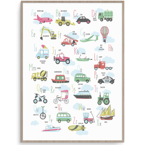 Transport Alphabet Poster
