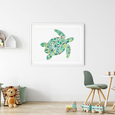Turtle Wall Art For Kids Room