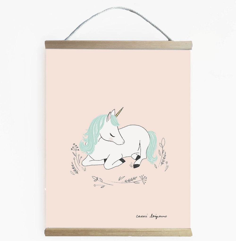 Unicorn Dreaming Wall Banner For Little Girls Room