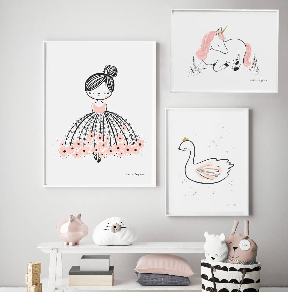 Swan Princess Beautiful Girls Wall Art