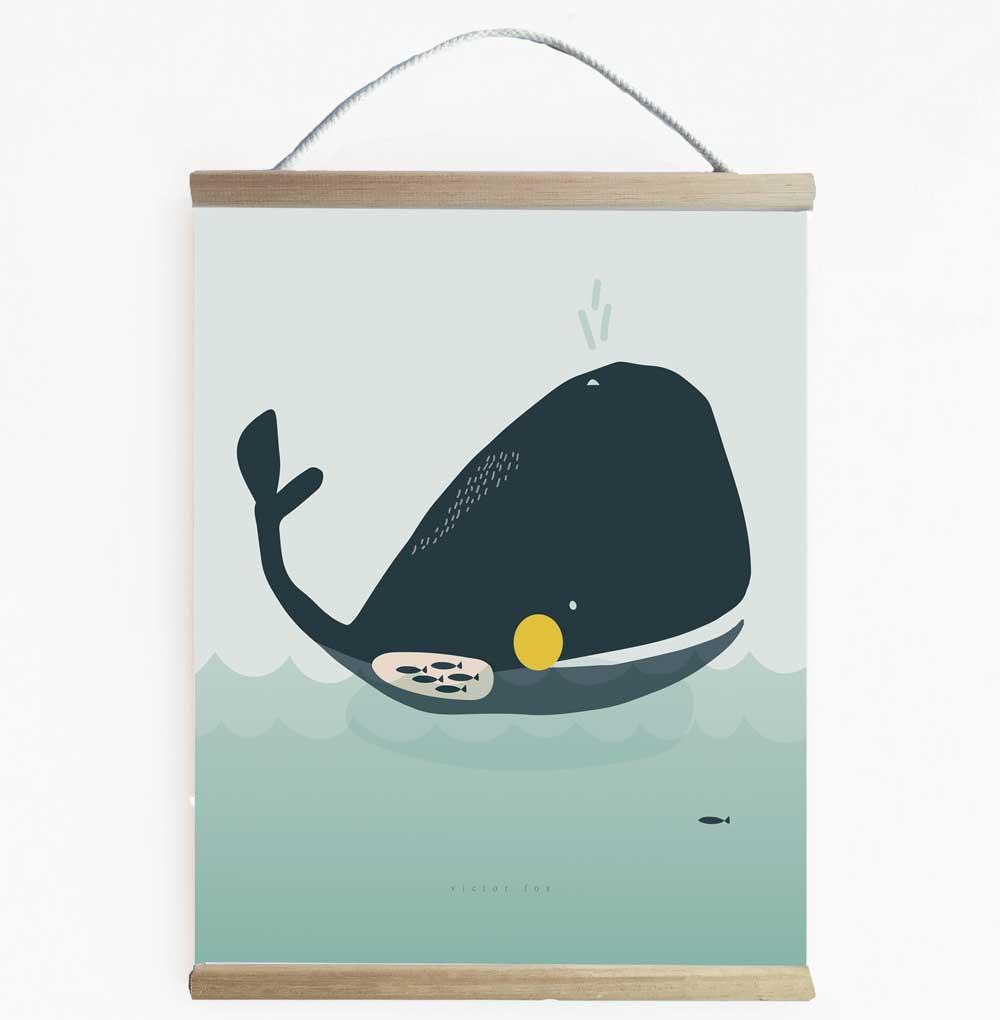 Walter Whale Wall Banner Perfect For Under The Sea Themed Kid's Room