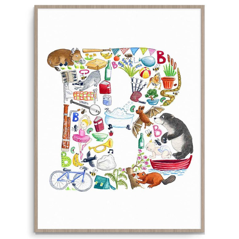 Letter B Initial Print For Kids