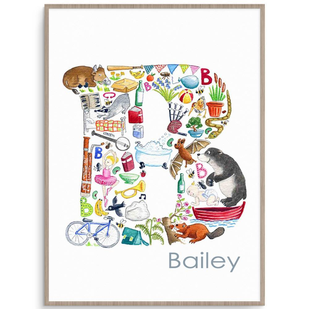 Personalise Your Childs Room With This Letter B Print