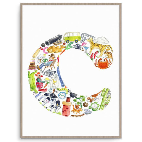 Letter C Kids Print  - Find Everything Beginning With The Letter C