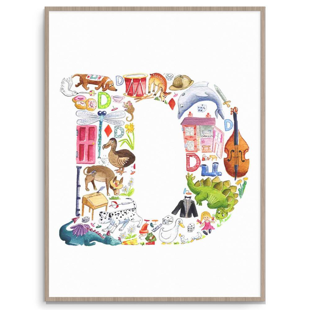 Louise Tate Alphabet Art D Is For... nursery art kids wall art