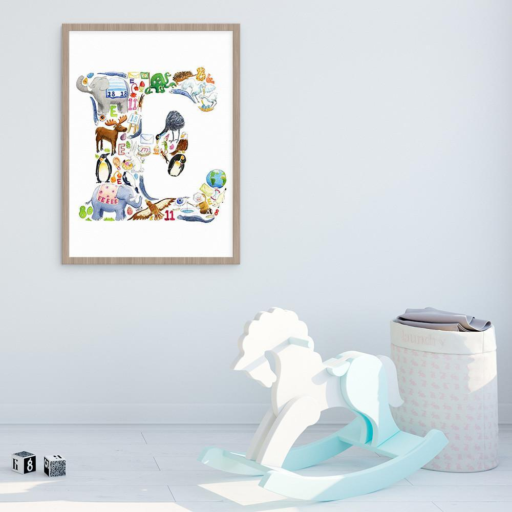 Letter E Print For Kids Room Or Nursery
