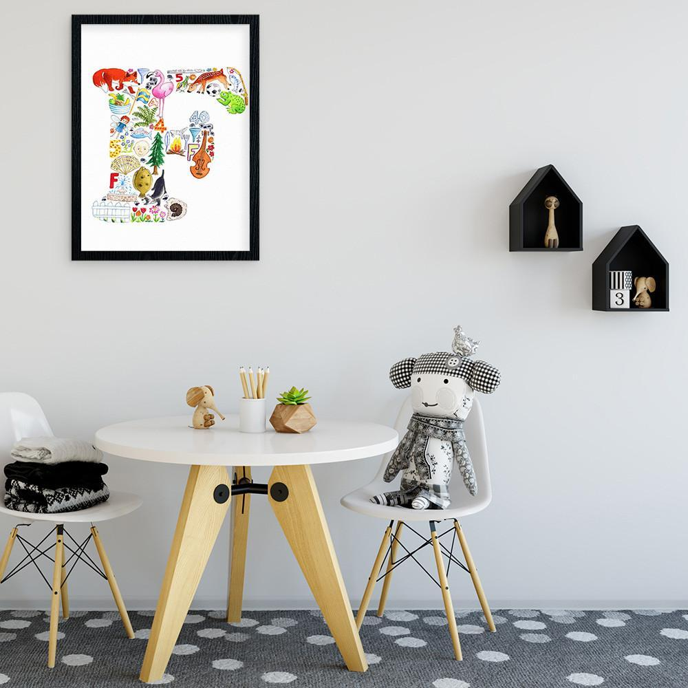 Personalise Your Childs Room With Their Own Initial Print