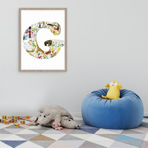 Personalise Their Room With A Letter G Print