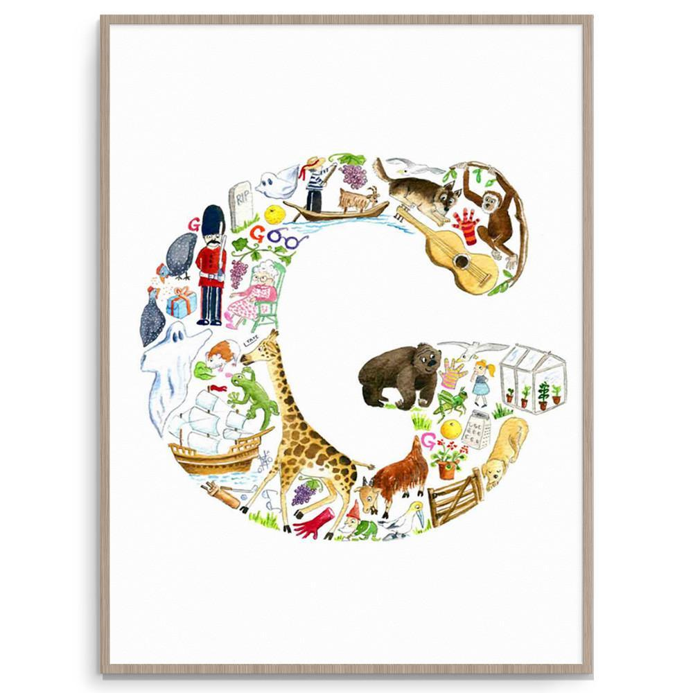 Letter G Print For Kids Room Or Nursery