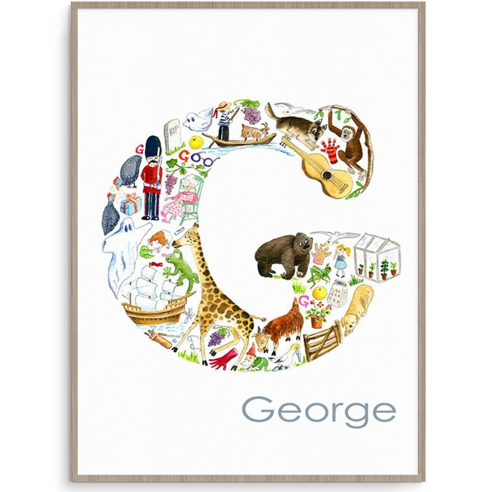 Persoanlised Wall Art Filled With Everything Beginning With The Letter G