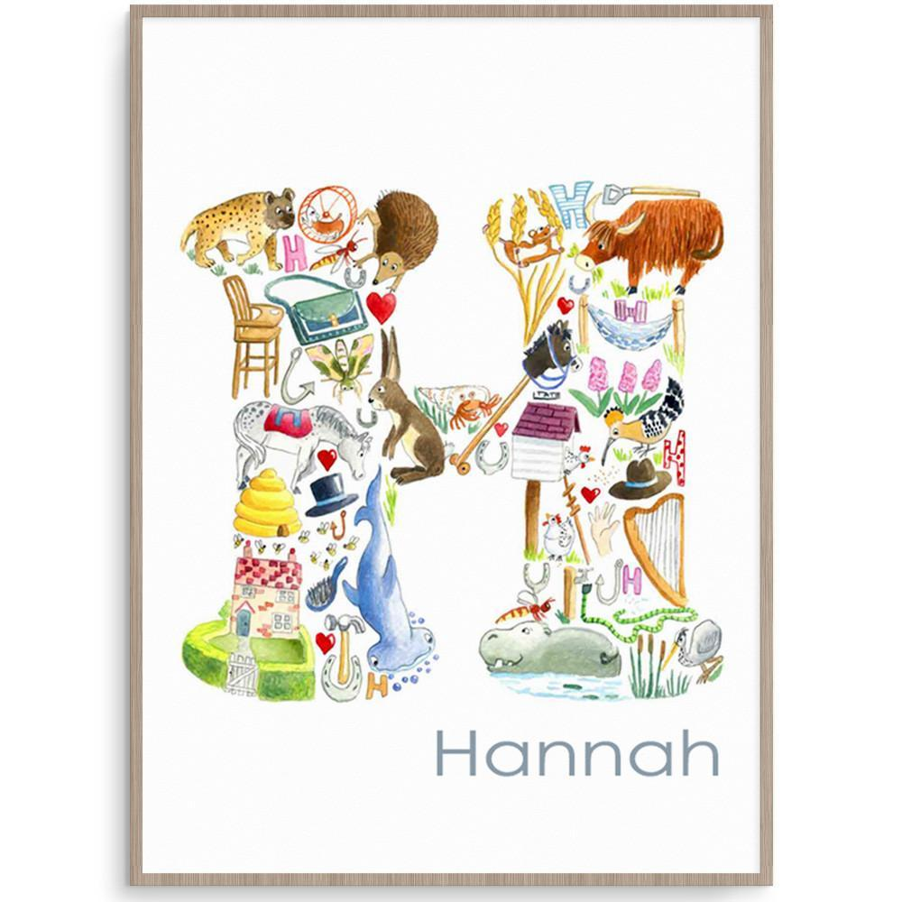 Letter H Kids Room Wall Art