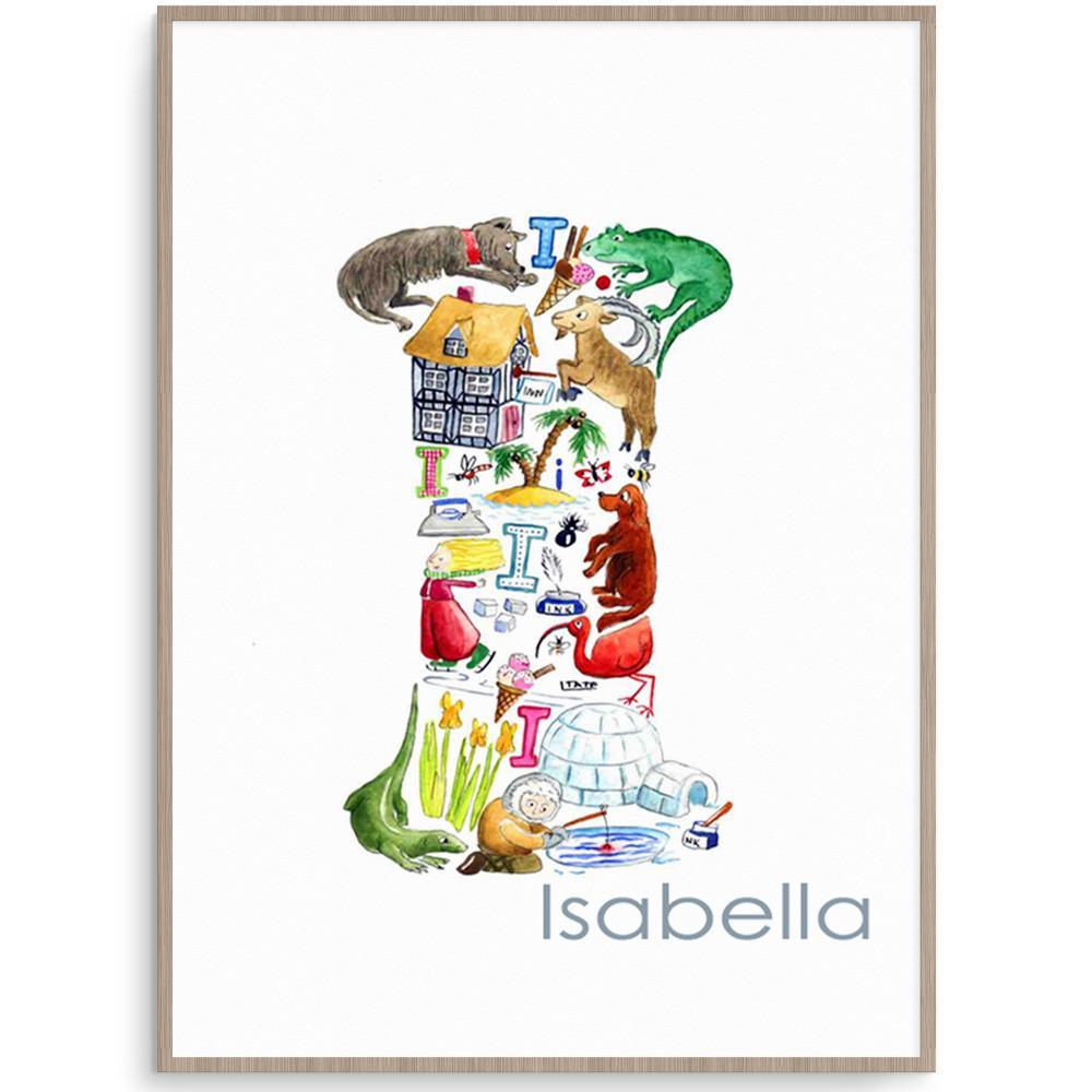 Personalised Letter I Print For Kids