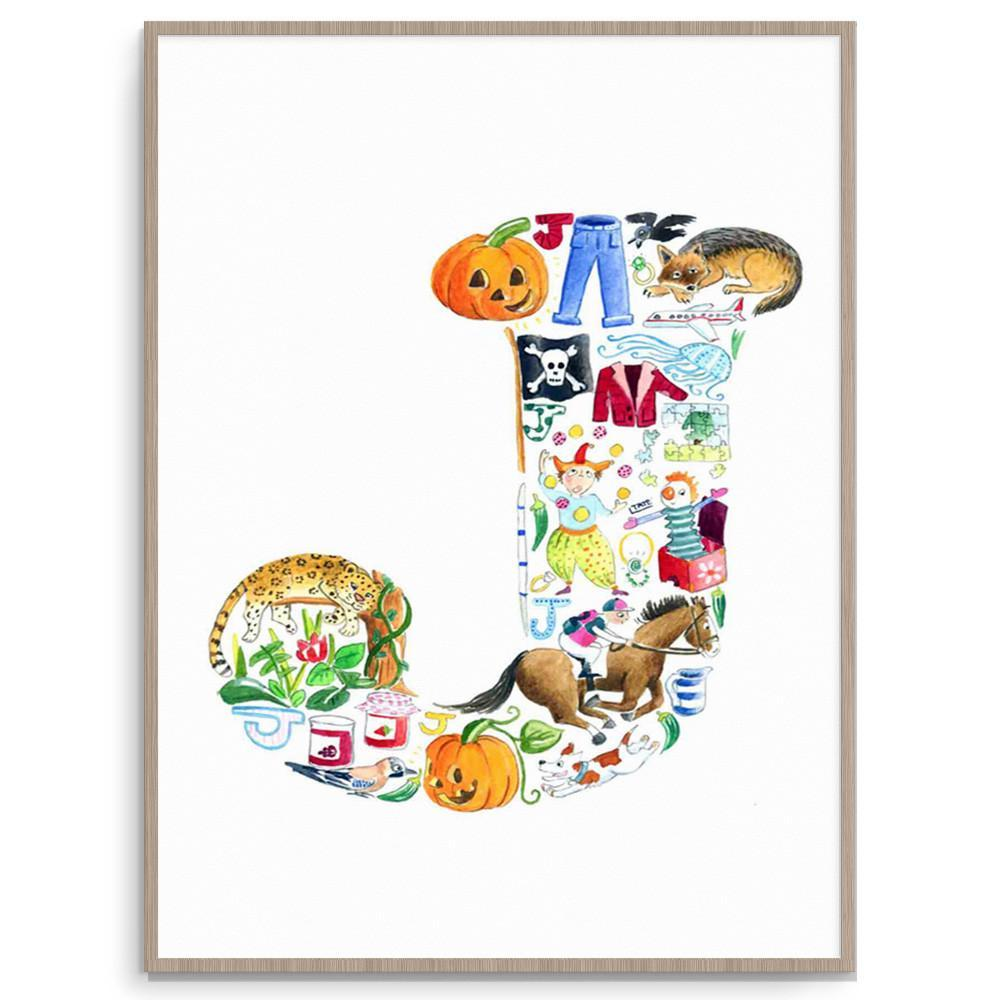 Letter J Poster Print For Children's Room