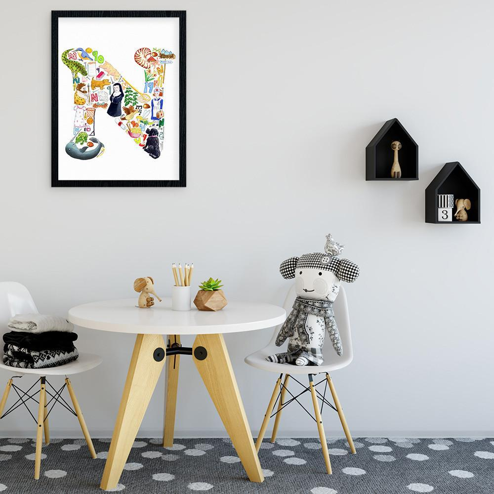 Personalise Your Childs Room With A Letter N Print