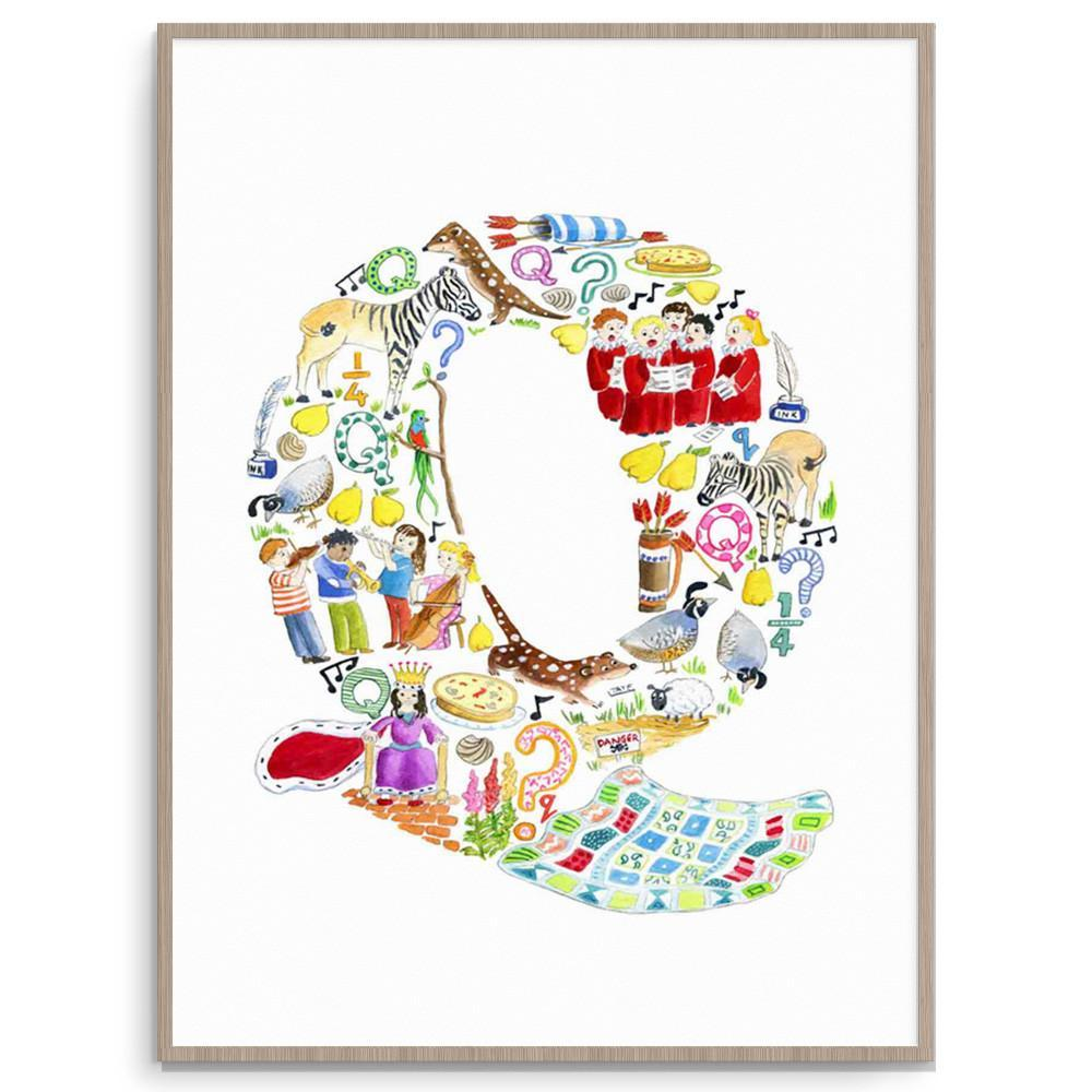 Nursery And Kids Wall Art Letter Q Print