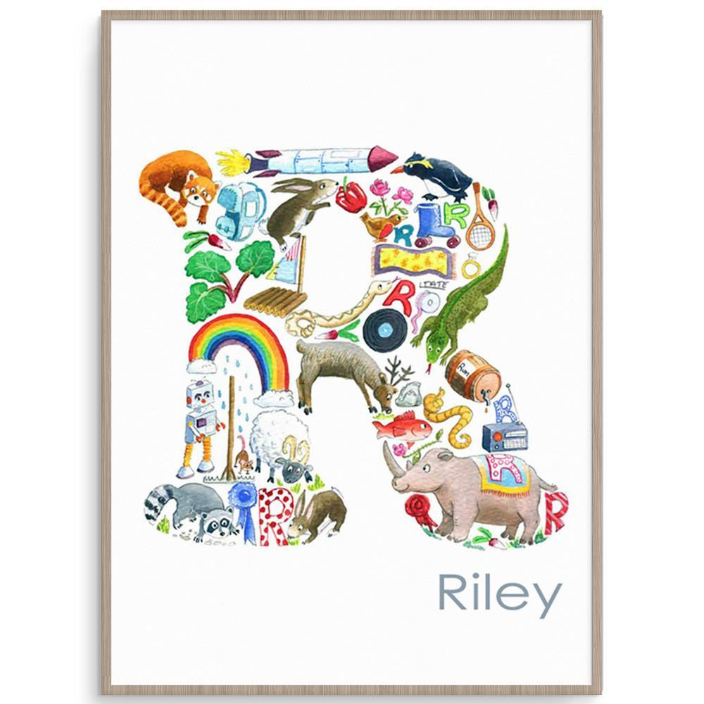 Letter R Nursery Print And Kids Print