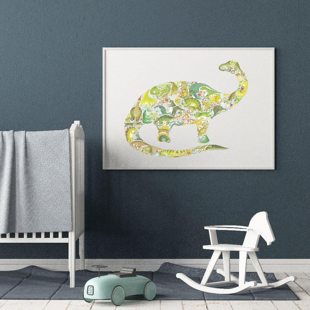 Dinosaur Poster For Kids Room