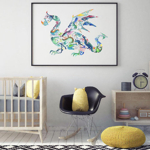 Unique And Creative Dragon Nursery & Boys Room Wall Art