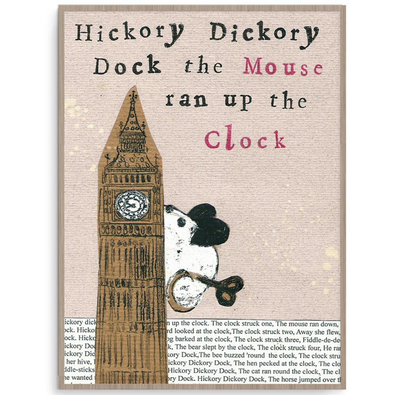 Helena Tyce Boy Prints Hickory Dickory Dock nursery art kids wall art
