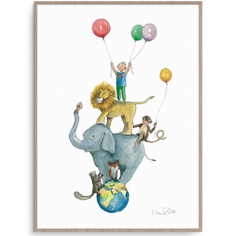 Animo Boy Prints I'm The Tallest Boy nursery art kids wall art