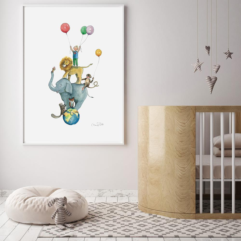 Tallest Boy In The World Lovely Animal Wall Art