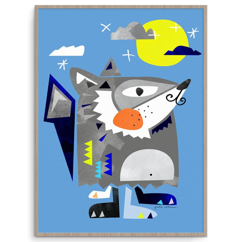 Pete Cromer Boy Prints Mr Cool Wolf nursery art kids wall art