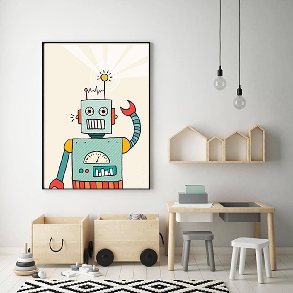 Colourful And Imaginative Robot Wall Art