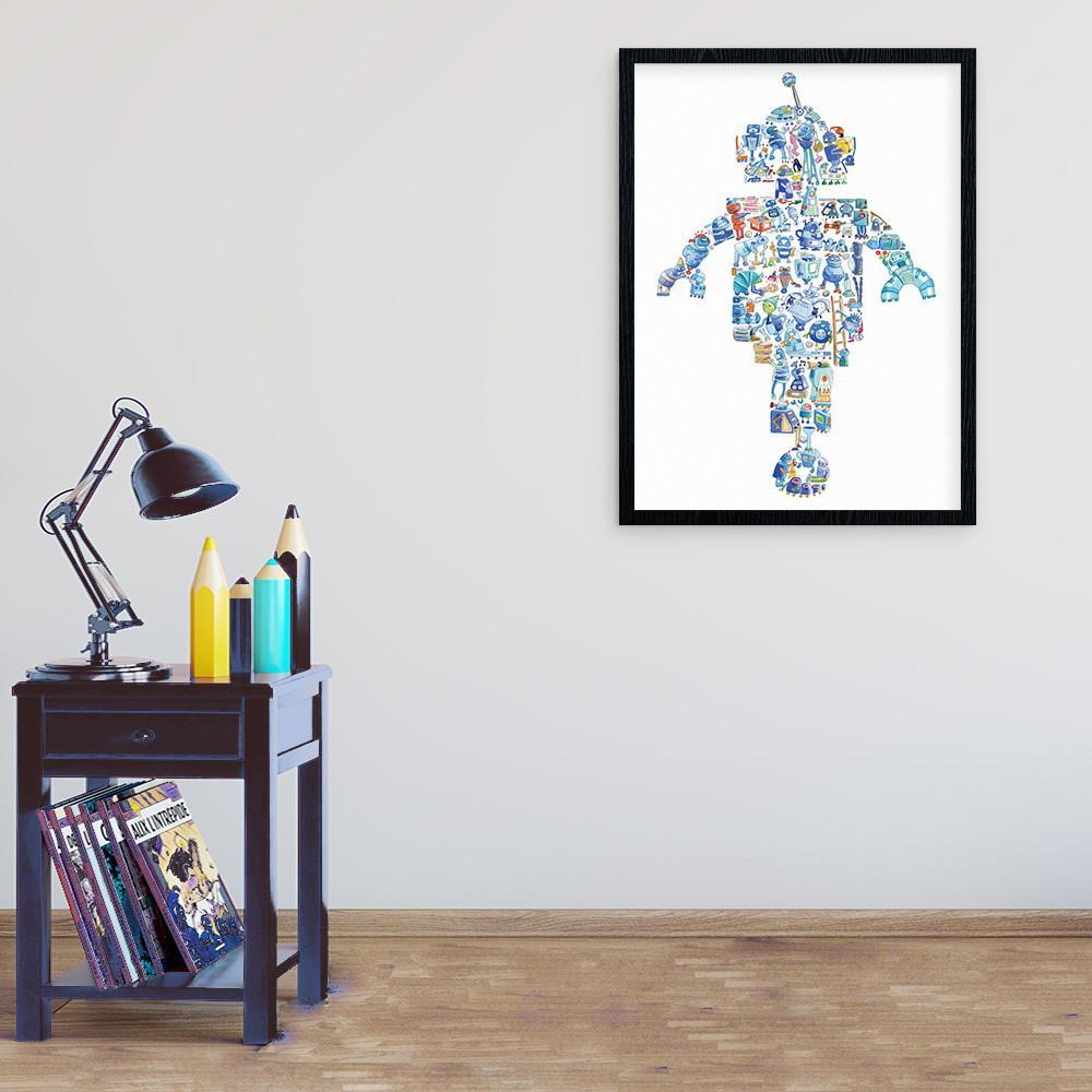 Cool Robot Wall Art Print