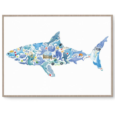 Shark Wall Art For Boys