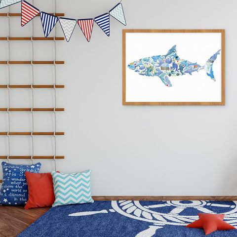 This Snappy Shark Wall Art For Boys Is So Cool