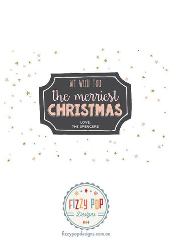 Fizzy Pop Designs Christmas Custom Christmas Cards - Ho Ho Ho nursery art kids wall art
