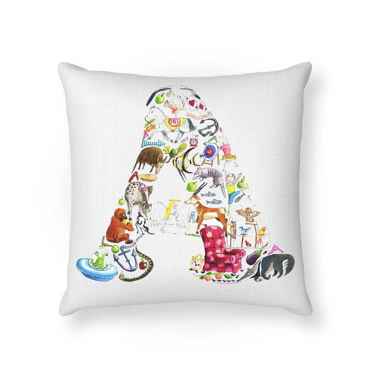 Made To Order Cushion Cushions Alpha Art Cushions nursery art kids wall art