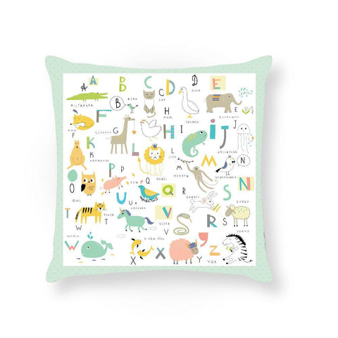 Made To Order Cushion Cushions Animal Alphabet Cushion nursery art kids wall art