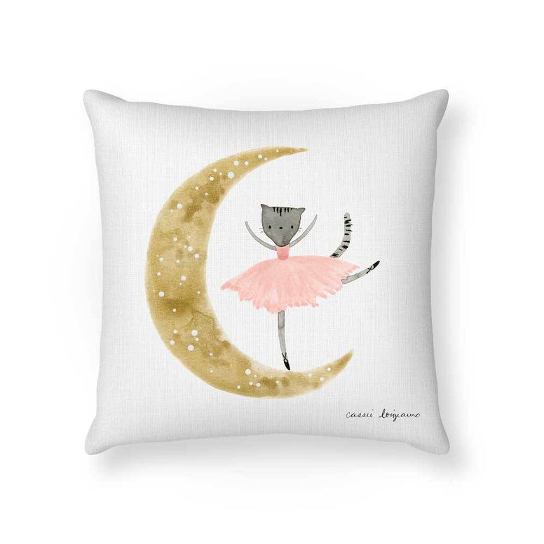 Made To Order Cushion Cushions Ballet Kitty Cushion nursery art kids wall art