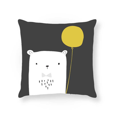 Made To Order Cushion Cushions Bear Balloon Cushion nursery art kids wall art