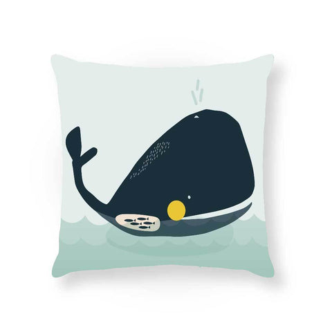 Made To Order Cushion Cushions Walter Whale Cushion nursery art kids wall art