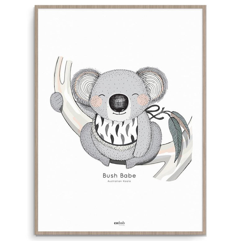 Co:Hab Designs Gender Neutral Aussie Bush Babe nursery art kids wall art
