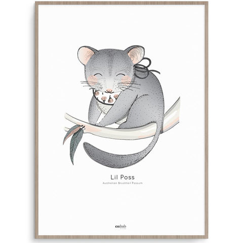 Co:Hab Designs Gender Neutral Aussie Lil Poss nursery art kids wall art