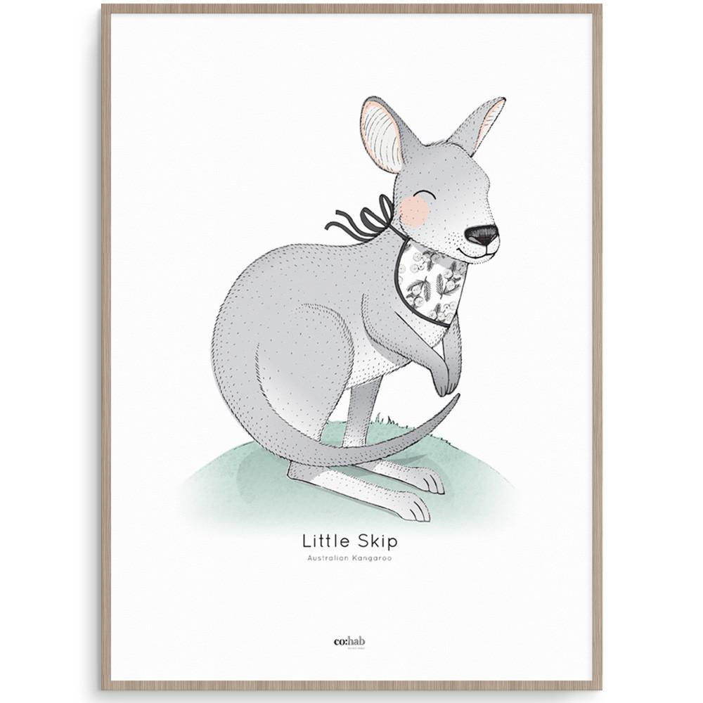 Aussie Little Skip Kangaroo Nursery Art Kids Wall Art