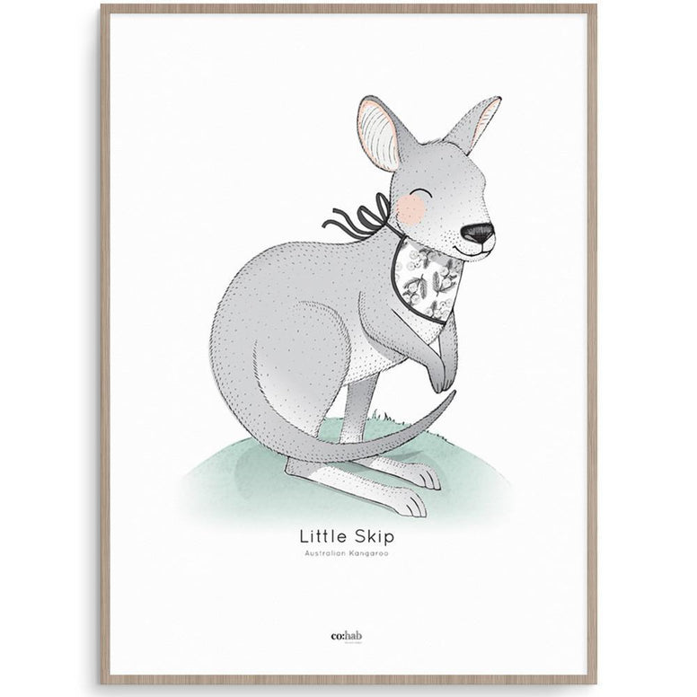 Co:Hab Designs Gender Neutral Aussie Little Skip nursery art kids wall art